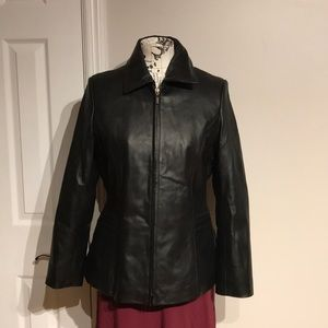 Moto Leather RockStar Jacket Zip Up Casual Party L
